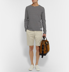 AMI Slim-Fit Cotton-Twill Chino Shorts