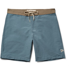 Mollusk - Long-Length Cotton-Blend Swim Shorts