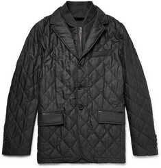 Burberry London Convertible Quilted Virgin Wool Jacket