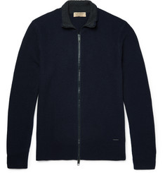 Burberry - London Honeycomb-Knit Wool and Cashmere-Blend Zip-Up Cardigan
