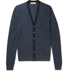 Burberry London Slim-Fit Silk and Cotton-Blend Cardigan
