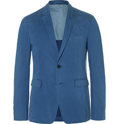 Burberry London Blue Slim-Fit Stretch-Cotton Blazer
