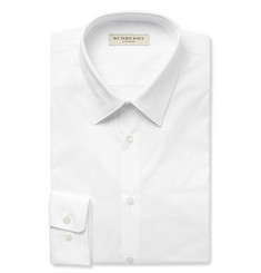 Burberry London Slim-Fit Stretch Cotton-Blend Shirt