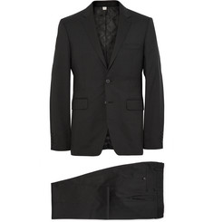 Burberry London Black Slim-Fit Wool Suit