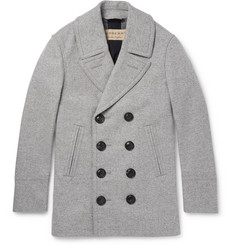 Burberry London Mélange Wool and Cashmere-Blend Peacoat
