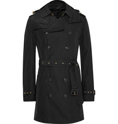 Burberry London Hooded Waterproof Shell Trench Coat