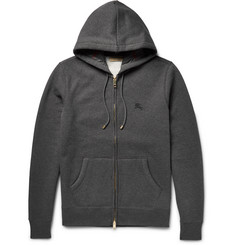 Burberry London Fleece-Back Cotton-Blend Jersey Zip-Up Hoodie