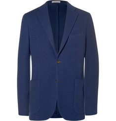 Boglioli Blue Slim-Fit Virgin Wool Blazer