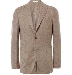 Boglioli Oatmeal Slim-Fit Wool and Cashmere-Blend Blazer