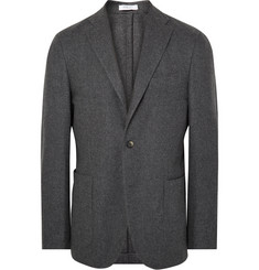 Boglioli Grey K-Jacket Slim-Fit Wool and Cashmere-Blend Blazer