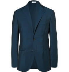 Boglioli Blue Slim-Fit Wool and Mohair-Blend Blazer