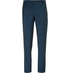 Boglioli Blue Slim-Fit Wool and Mohair-Blend Suit Trousers