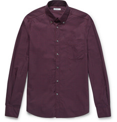 Boglioli Slim-Fit Button-Down Collar Checked Cotton Shirt