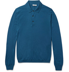 Boglioli Slim-Fit Knitted Wool Polo Shirt
