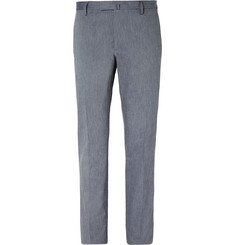 Boglioli Grey Slim-Fit Stretch-Cotton Trousers