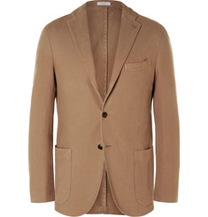 Boglioli Brown Slim-Fit Cotton-Canvas Blazer