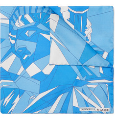 Turnbull & Asser - Printed Silk-Twill Pocket Square