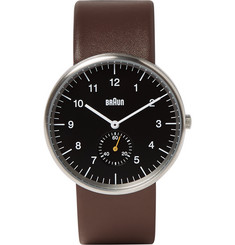 Braun BN0024 Leather and Stainless Steel Watch