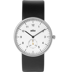 Braun BN0024 Stainless Steel and Leather Watch