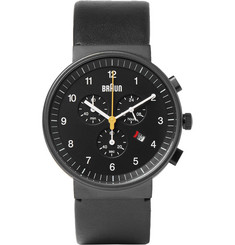 Braun BN0035 Stainless Steel and Leather Watch