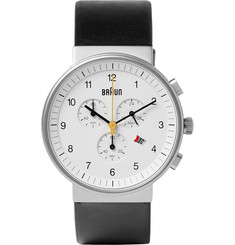 Braun - BN0035 Classic Chronograph Stainless Steel and Leather Watch