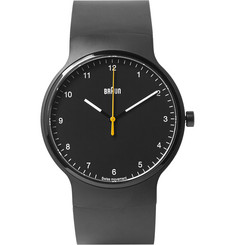 Braun BN0221 Rubber and Stainless Steel Watch