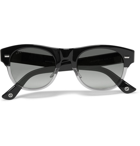 gucci male gucci squareframe acetate sunglasses black