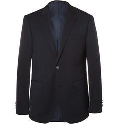 Hugo Boss Blue Jeremy Virgin Wool-Pique Blazer,Navy