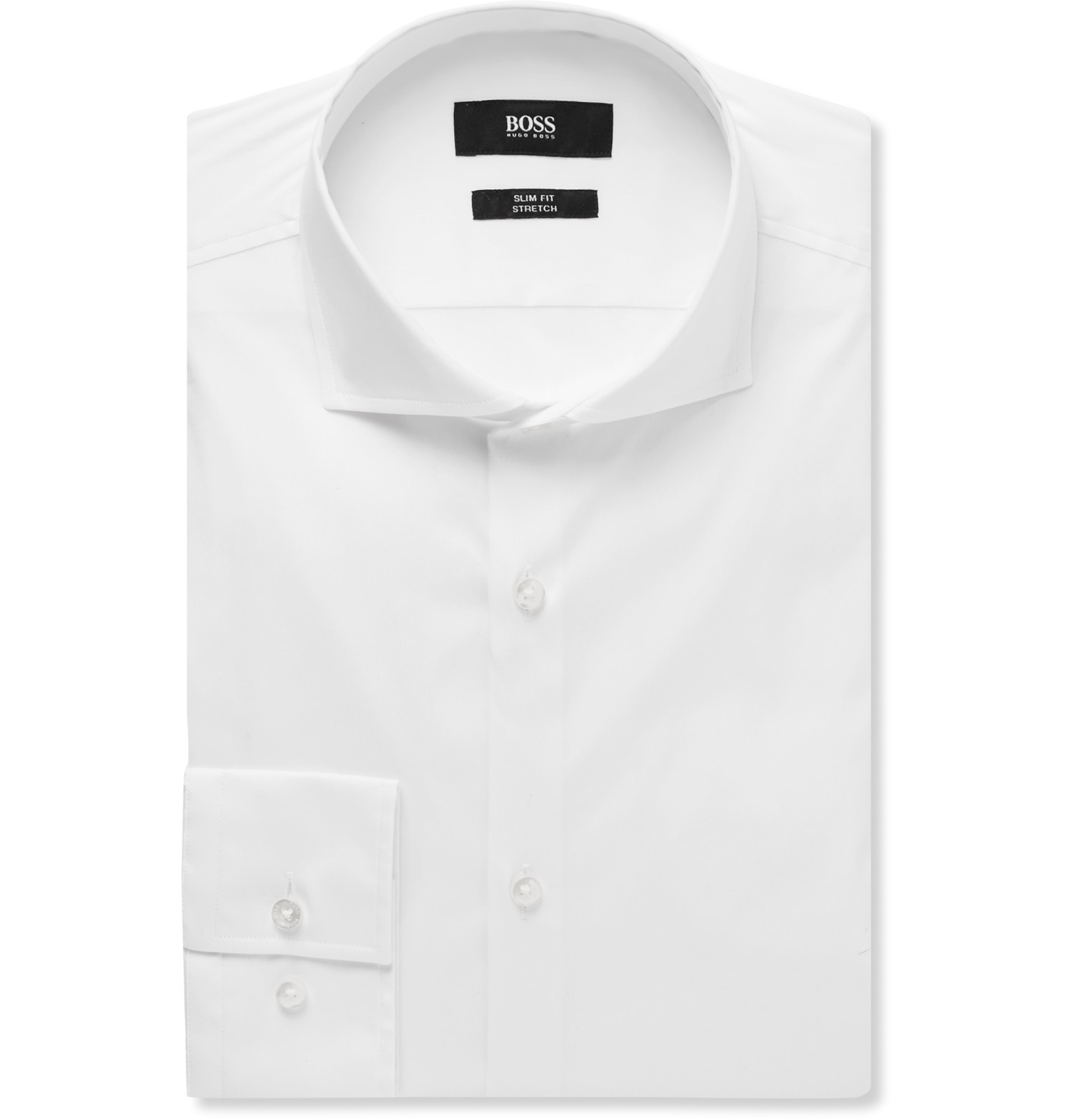 679d70de Hugo Boss Slim Fit Dress Shirt White - DREAMWORKS