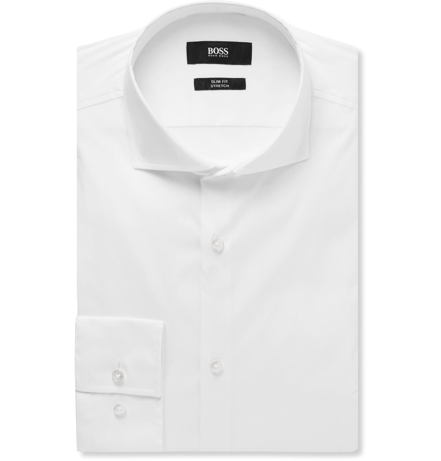 aacdb972 Hugo Boss Slim Fit Dress Shirt White - DREAMWORKS