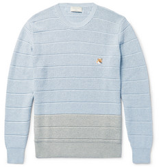 Maison Kitsuné Two-Tone Cotton Sweater