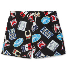 Maison Kitsuné Mid-Length Printed Swim Shorts