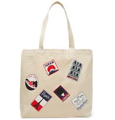 Maison Kitsuné - Printed Cotton-Canvas Tote Bag