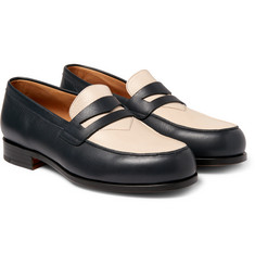 Maison Kitsuné - Two-Tone Grained-Leather Penny Loafers