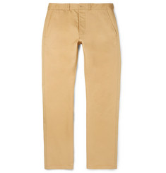 Maison Kitsuné - Slim-Fit Two-Tone Cotton-Twill Chinos