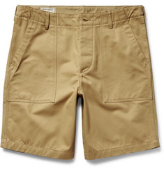 Maison Kitsuné Two-Tone Cotton-Twill Shorts