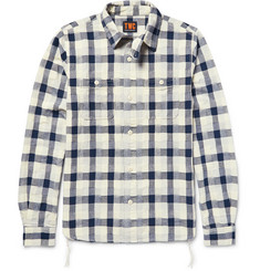 The Workers Club Woven-Patchwork Cotton Shirt