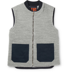 The Workers Club - Panelled Wool and Cotton-Blend Bouclé Gilet