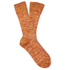 The Workers Club - Mélange Merino Wool-Blend Socks