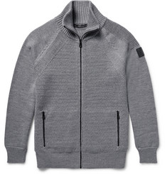 Belstaff Garston Panelled Wool Zip-Up Sweater