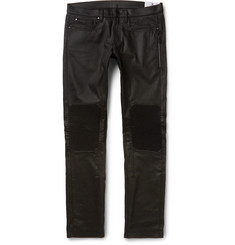 Belstaff - Blackrod Slim-Fit Coated Stretch-Denim Biker Jeans