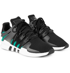Adidas Originals - EQT Support Adv Rubber and Faux Suede-Trimmed Mesh Sneakers