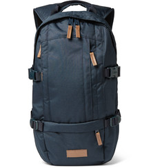 Eastpak Leather-Trimmed Canvas Backpack