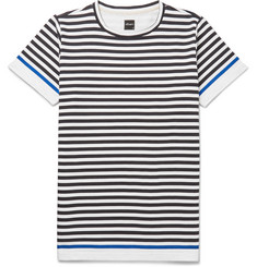 Albam - Slim-Fit Striped Cotton-Jersey T-Shirt