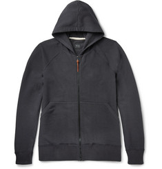 Albam Loopback Stretch-Cotton Jersey Zip-Up Hoodie