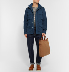 Aspesi Brushed Cotton and Linen-Blend Field Jacket