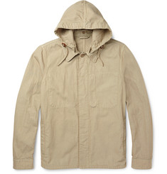 Aspesi Cotton and Linen-Blend Hooded Jacket
