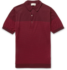 John Smedley Viking Striped Sea Island Cotton Polo Shirt