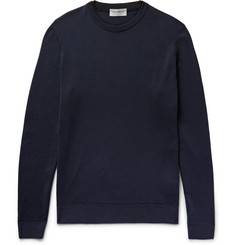 John Smedley Failand Contrast-Trimmed Merino Wool Sweater