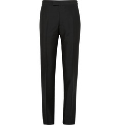 - Slim-Fit Mohair and Wool-Blend Trousers